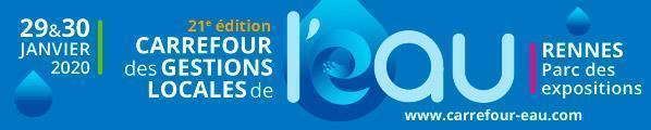 """Bezoek ons op """"Le Carrefour de l'Eau"""", het belangrijkste evenement voor waterprofessionals van 27 tot 28 januari 2021 in Rennes, Frankrijk."""
