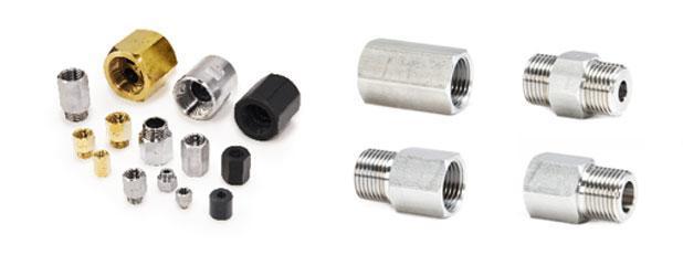 Durchflussbegrenzer mit Gewinde sind für Rohre zwischen 1/8″ und 2″ vorgesehen