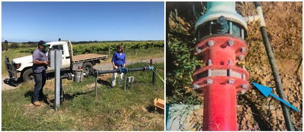 Case: irrigatiesysteem: Om te voorkomen dat gebruikers hun maximale hoeveelheid water zouden overschrijden, werden er BT-Maric begrenzers geïnstalleerd in de leidingaansluitingen