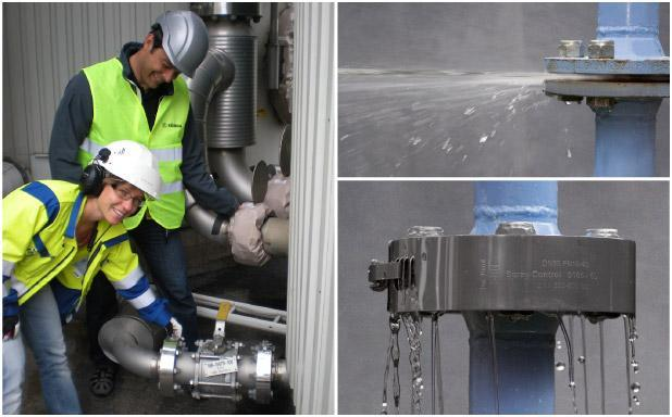 Spray Shiled is an investment in safety and prevents major incidents at sudden leakage