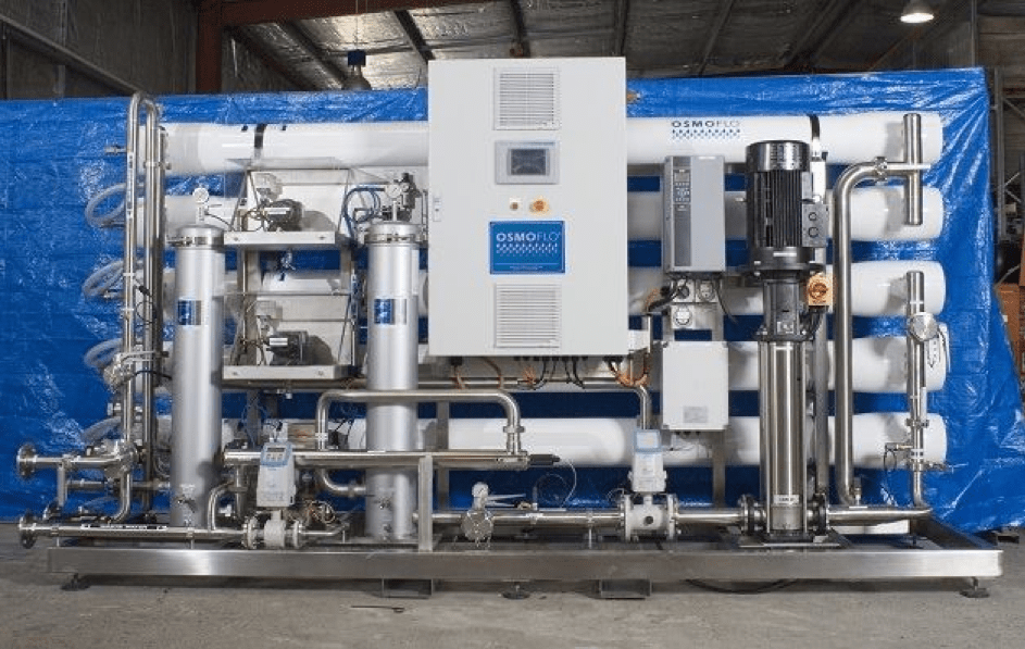 Taloir-made OEM solutions: Osmoflo Australia uses System Maric constant flow valves to control flow in a reverse water treatement plant.